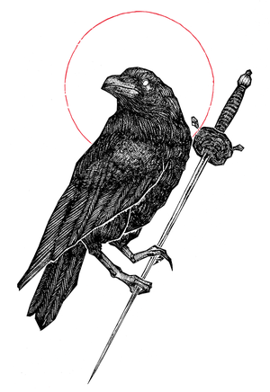 """Image of LIMITED EDITION RUN OF 50, """"""""The Raven"""" 12""""x18"""" Watercolor Paper Print"""
