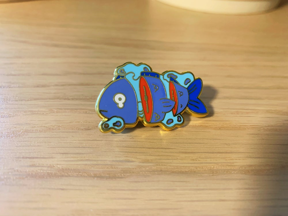 Image of Sad Fish Enamel Pin