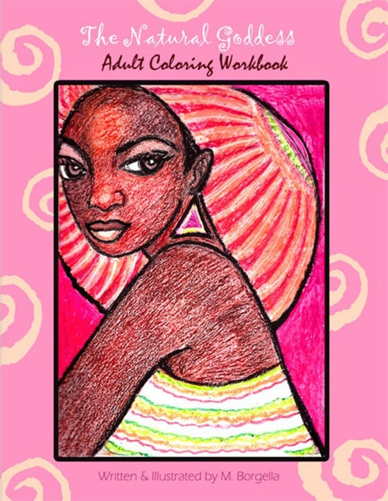 Image of The Natural Goddess Coloring Book for Adults