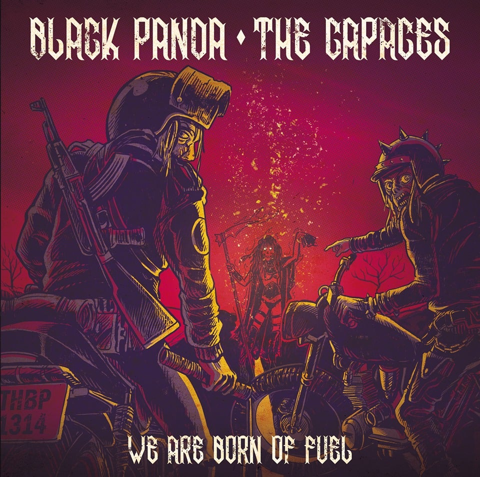 "Image of LADV132 - BLACK PANDA / The CAPACES ""we are born of fuel"" 7"""