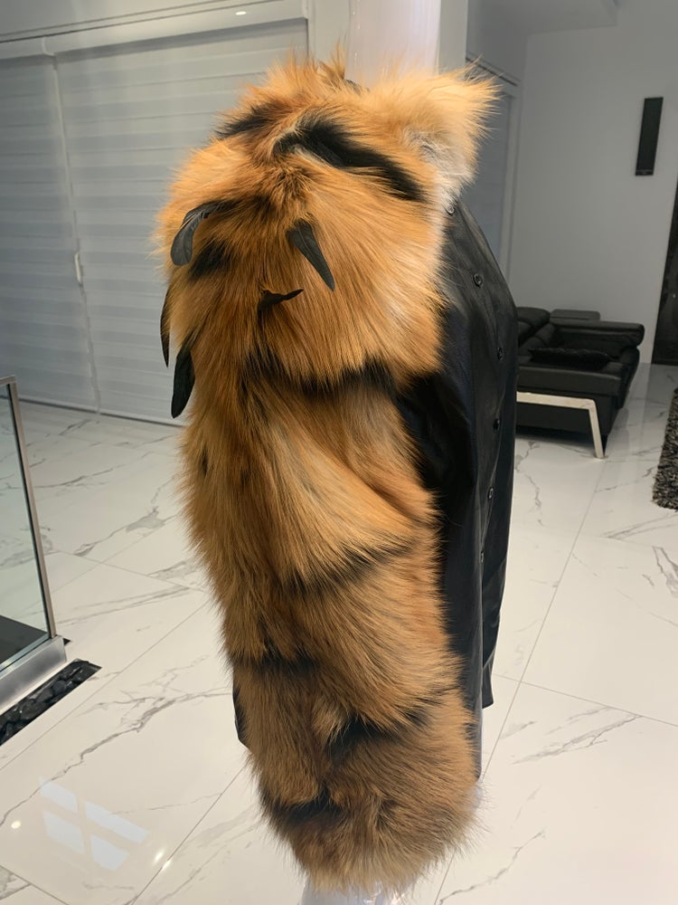 Image of Tiger Stripe Fur Sleeve
