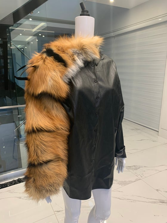 Image of Tiger Stripe Fur Sleeve