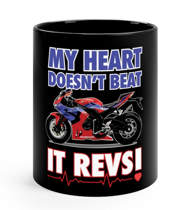 Image of My Heart Revs - Black Mug 11oz