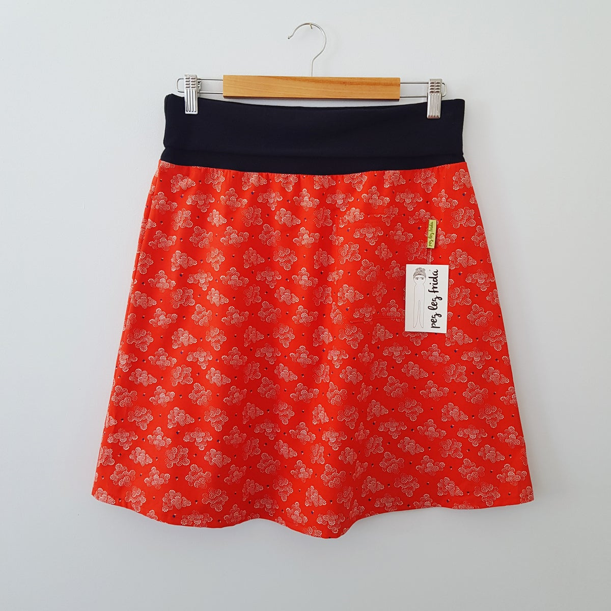 Image of Gus Skirt - Red Clouds