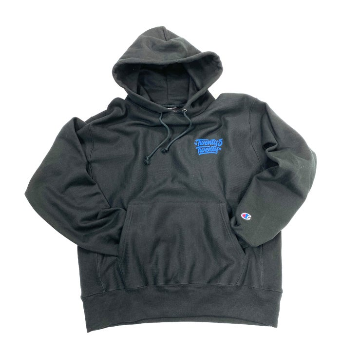 Image of 2520 X CHAMPION NO SURRENDER HOODIE - BLACK