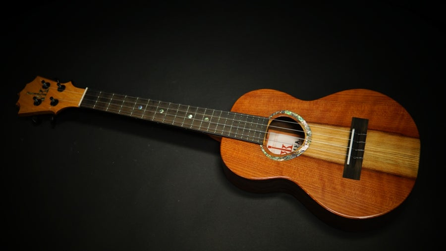Image of KoAloha KTMR-S00 Redwood Top & Walnut Rosette Custom Slim Tenor