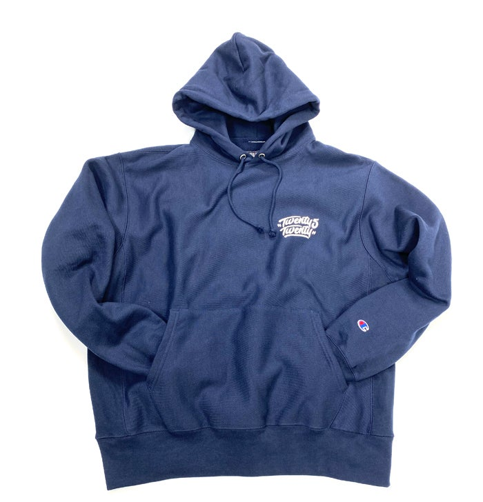 "Image of 2520 X CHAMPION ""NO SURRENDER"" HOODIE - SPORT DARK NAVY"