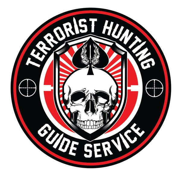 "Image of Terrorist Hunting Guide Service 4"" Decal"