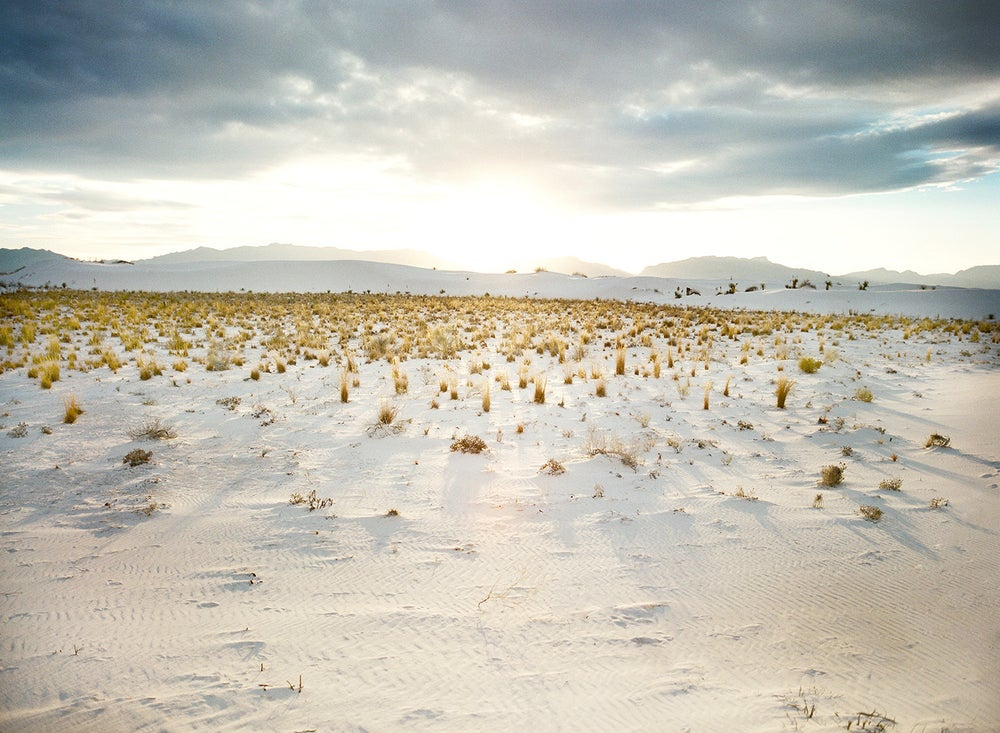 Image of white Sands New Mexico sunset