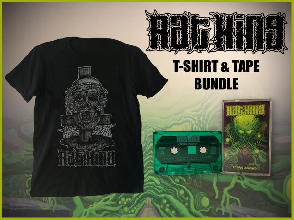 Image of Rat King - Vicious Inhumanity T-shirt/Tape bundle