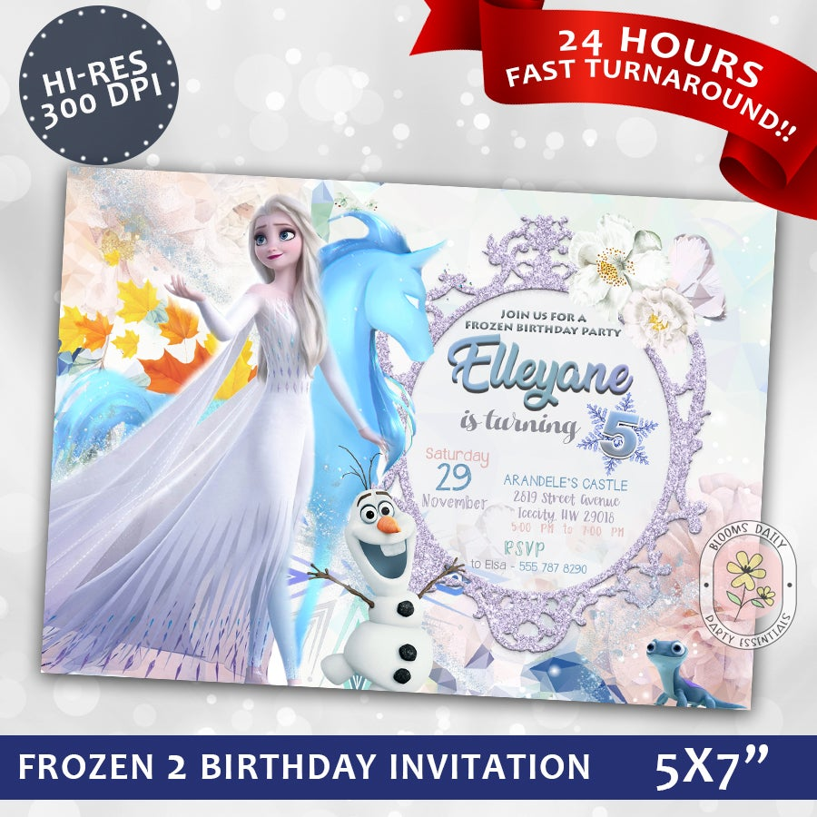 This is an image of Frozen Invites Printable for free printable