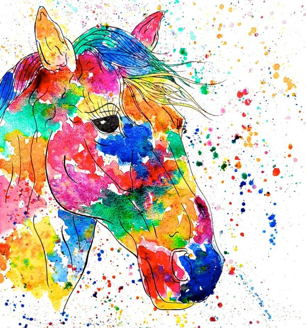 Image of 'Rainbow Horse' Greeting Card