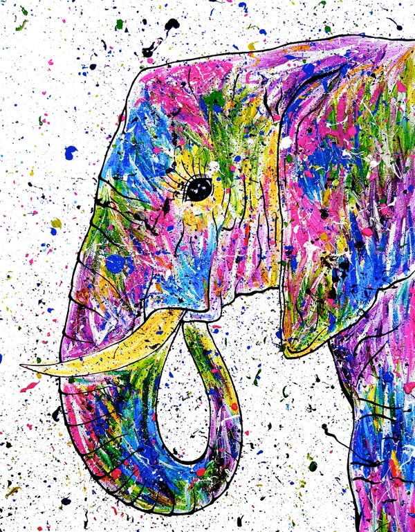 Image of 'Rainbow Elephant' Greeting Card