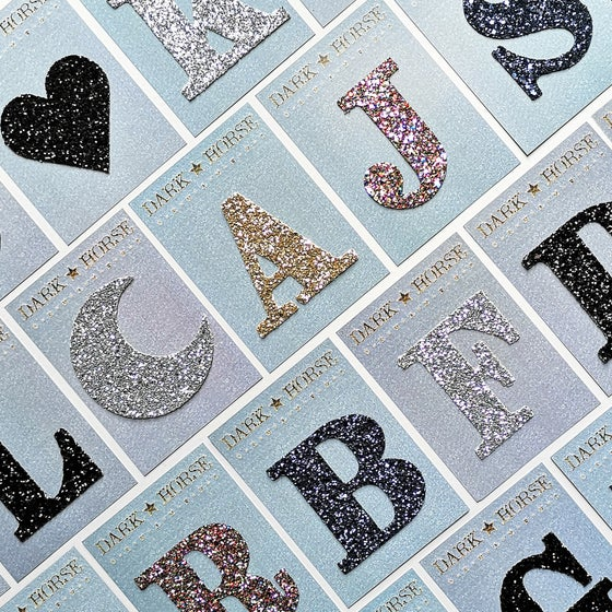 Image of CLASSIC glitter initial stickers