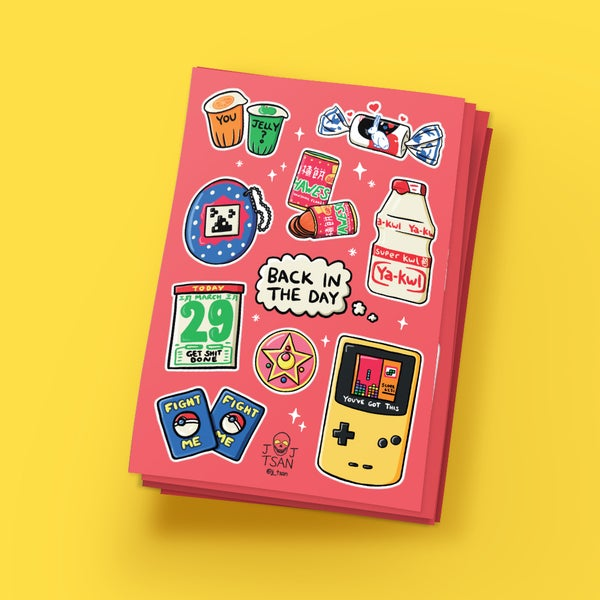 Image of Back in the Day A6 Sticker Sheet