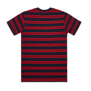 Image of CLASSIC CLASSIC STRIPED TEE - NAVY/RED