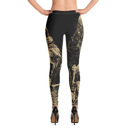 Image of Graveyard All-Over Print Women's Leggings