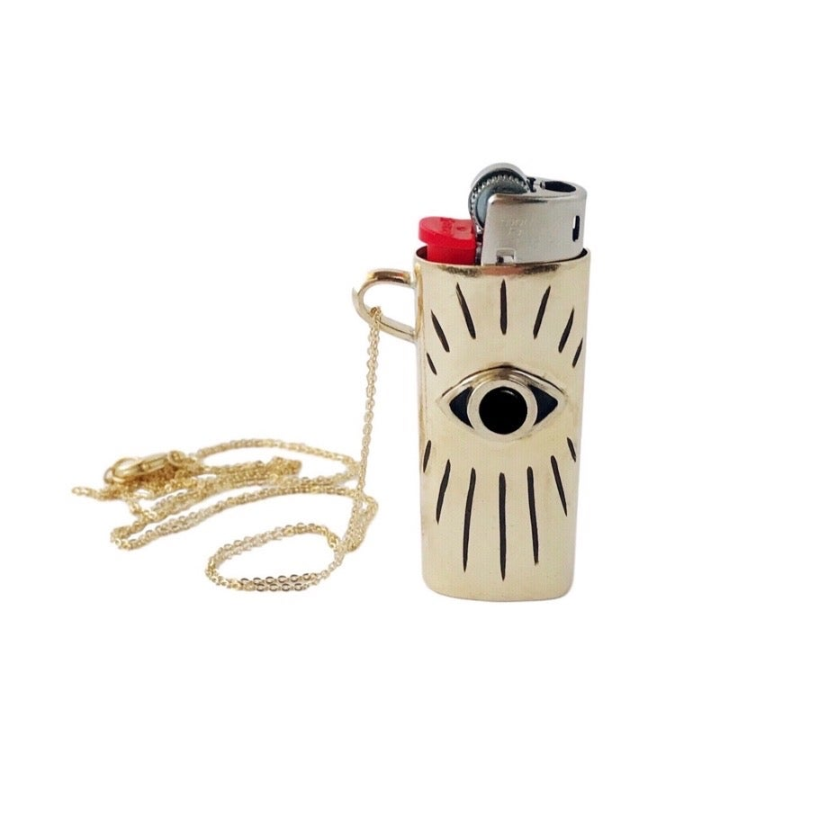 Image of Lighter Case Necklace with Black Onyx