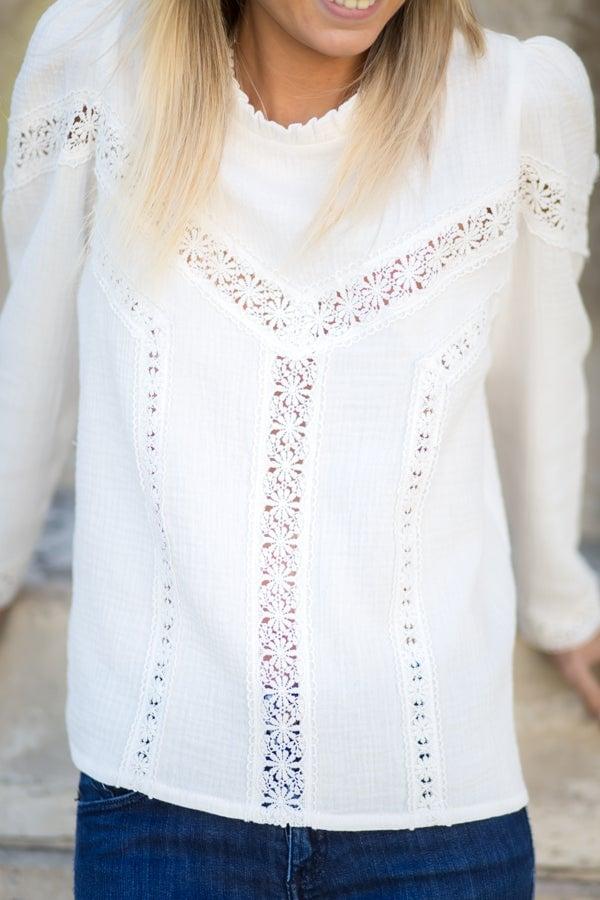 Image of BLOUSE LIVIA - BLANC CASSÉ