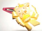 Image of Large ribbon rosette hairclip