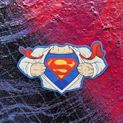 Image of Superman holographic sticker