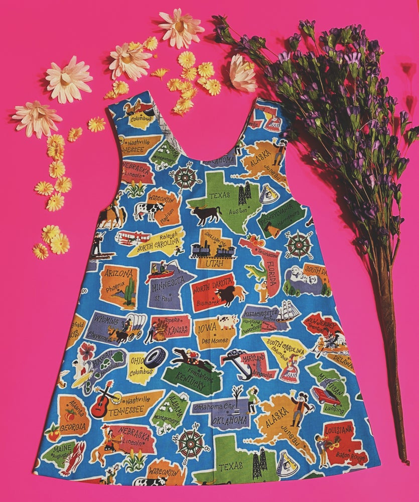 Image of 4T Road Trip Reversible Pinafore