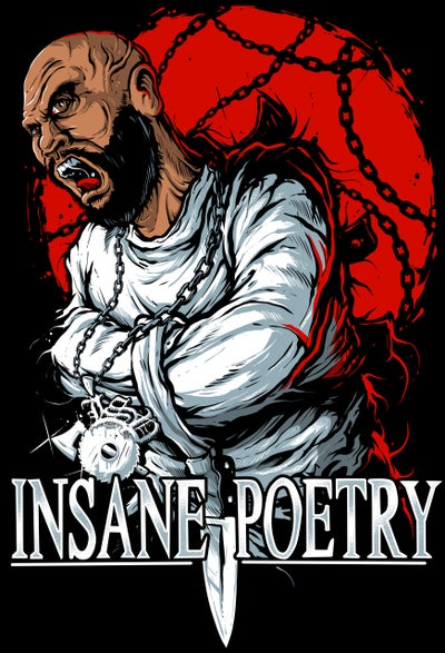 Image of INSANE POETRY:  AM I DERANGED?  ZIP UP HOODIE