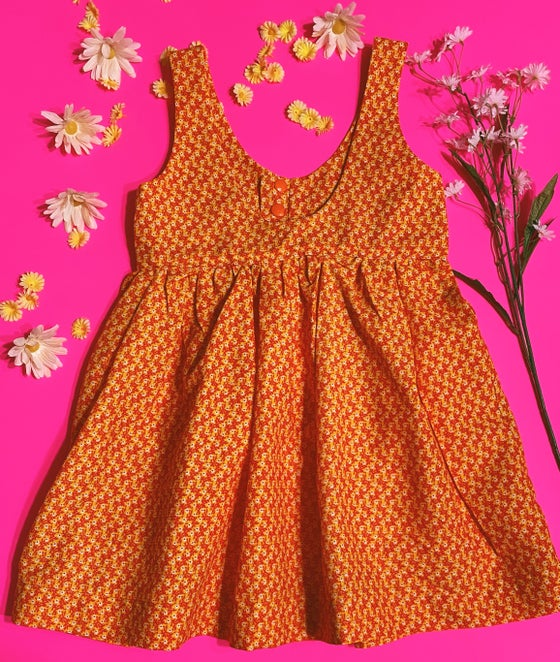 Image of 6T Orange/Red Floral SNAP Dress