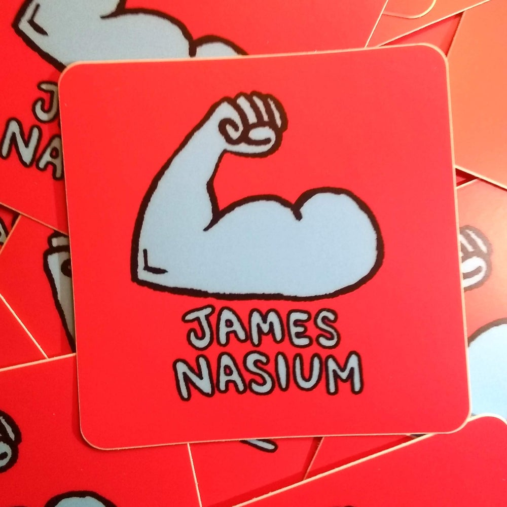 Image of James Nasium Sticker