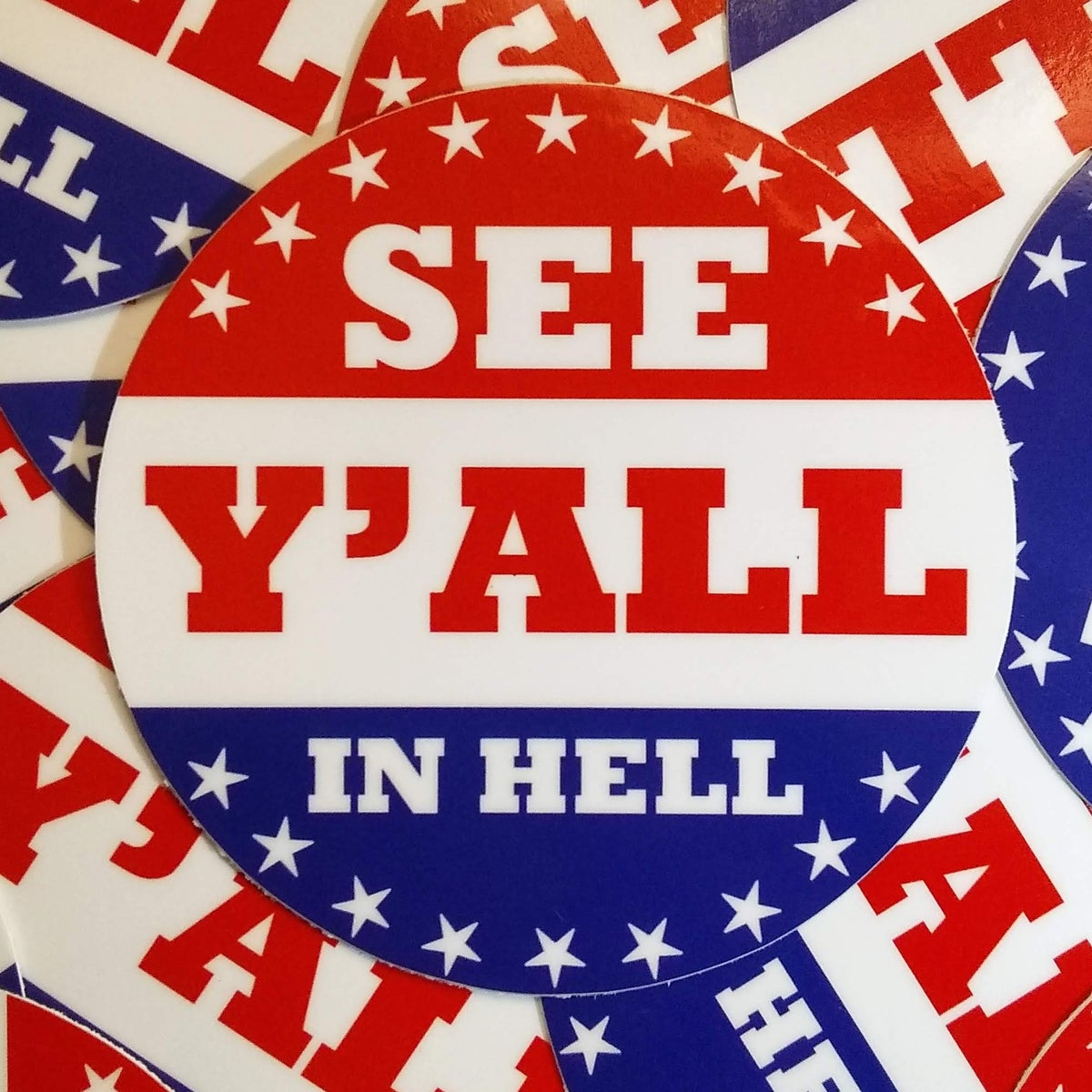 Image of See Y'all In Hell Sticker