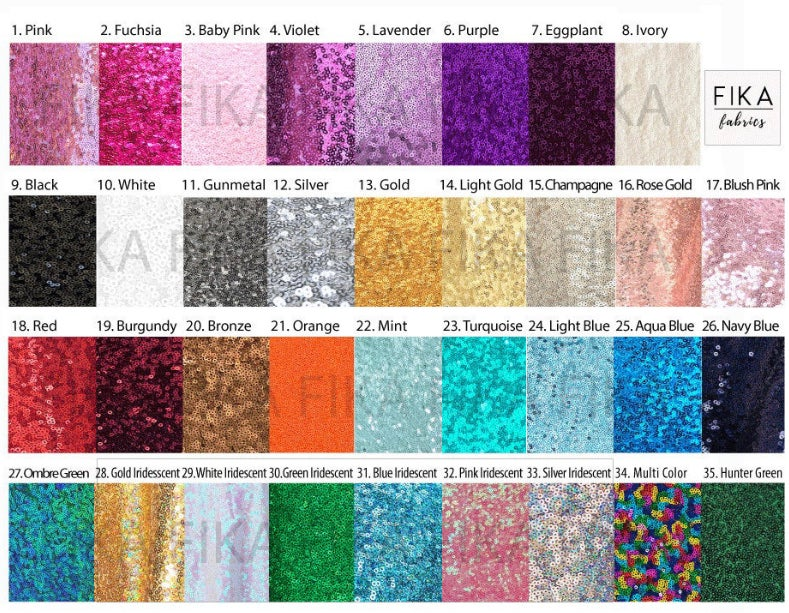 Image of Color Options! Full Sequin ears