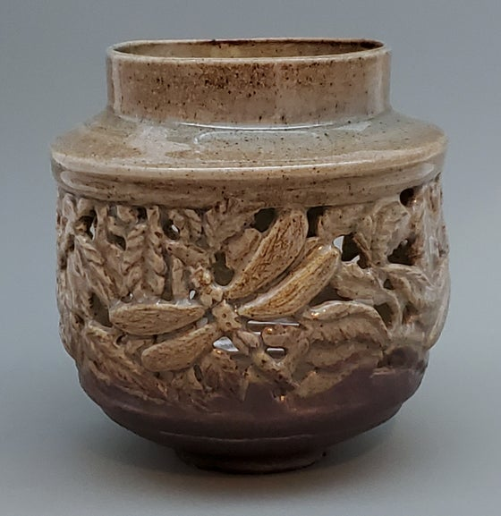 Image of Woodfired Dragonfly Sculptural Vessel