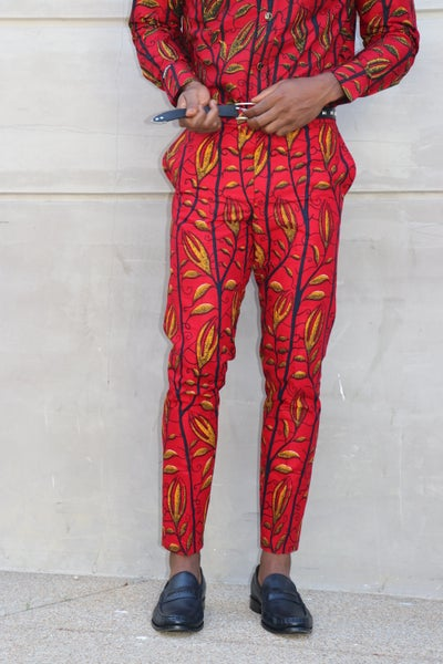 Image of The Kendu pants - red