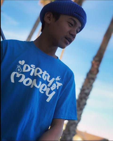 Image of Dirty Money Tee (blue)
