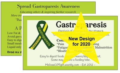 Image of New 2020 Gastroparesis Awareness Cards