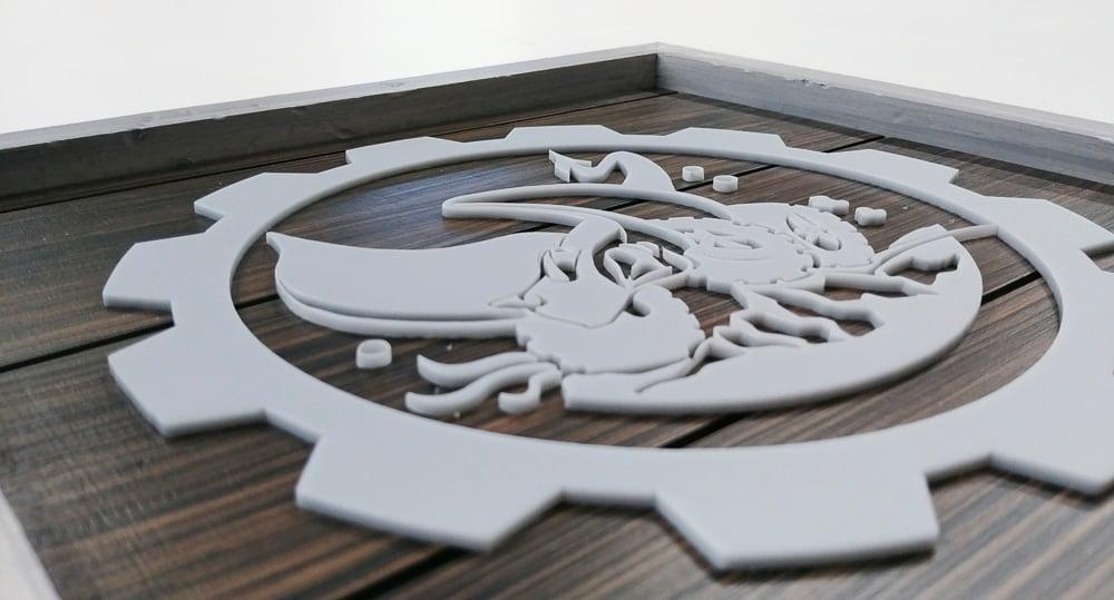Image of Handmand Custom Sign - Laser Embelished Logo