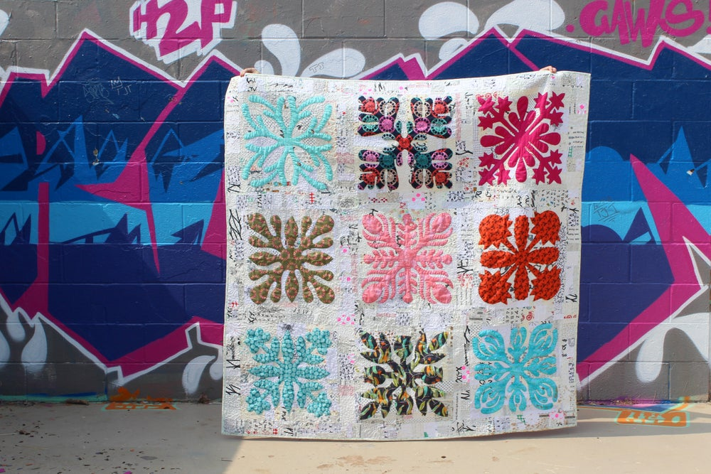 Image of Raspberry Applique quilt pattern