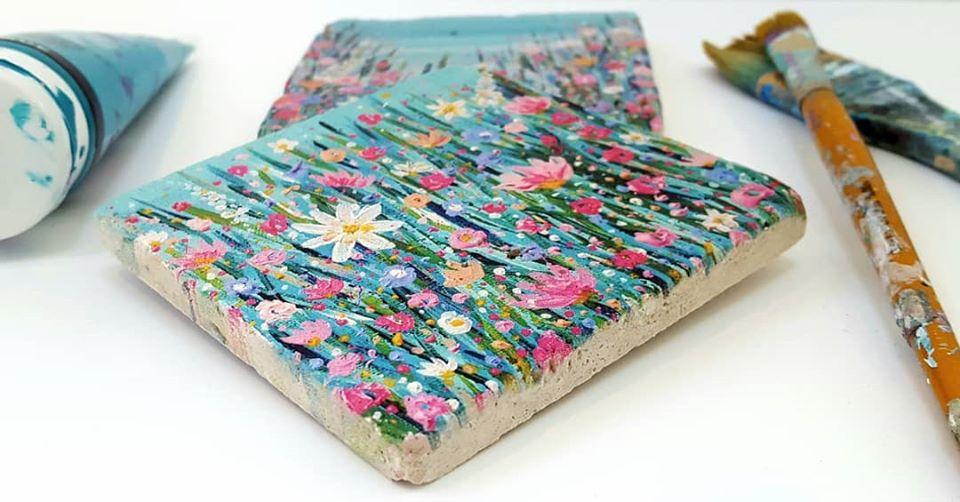 Image of 'Spring Has Sprung' Stone Coaster