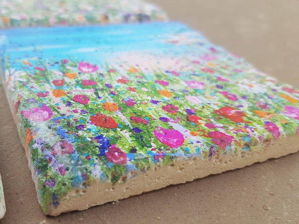 Image of 'Daisy' Stone Coaster