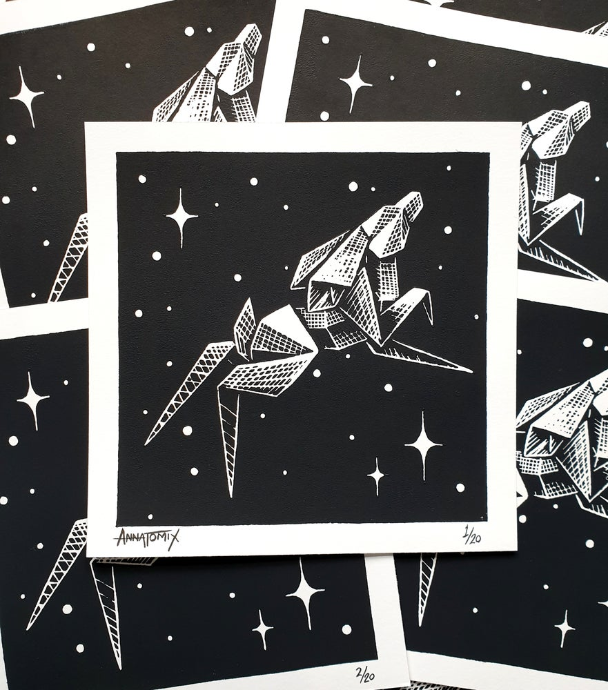 "Image of ""Odyssey"" limited edition block print"