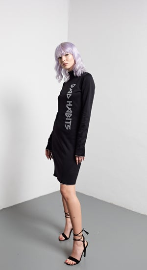 Image of Shine Bright Logo Dress - Silver