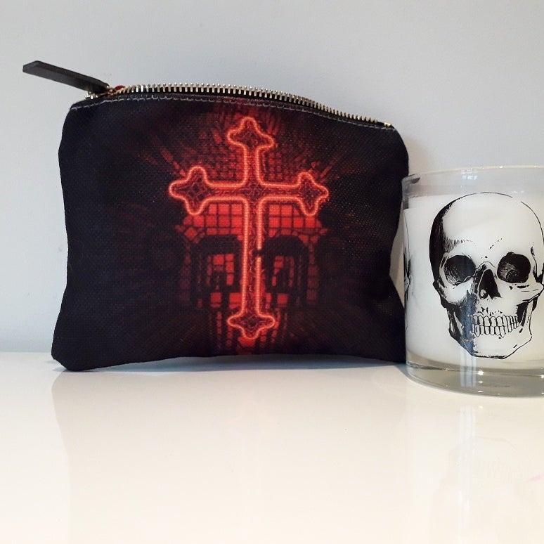 Image of Black Cross - sml purse