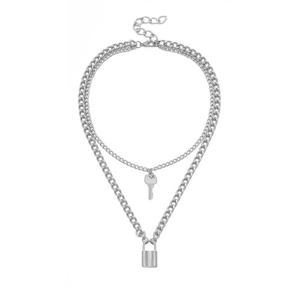 Image of Lock and Key layered necklace