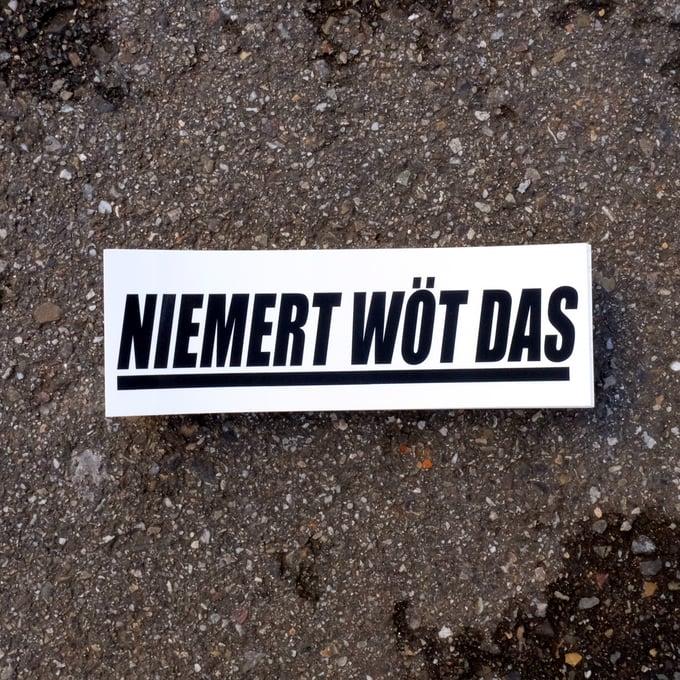 Image of NIEMERT WÖT DAS