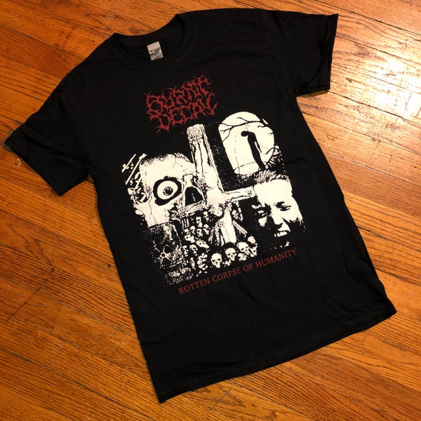 """Image of Burnt Decay """"Rotten Corpse of Humanity"""" T-Shirt"""