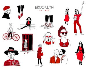 Image of Brooklyn in Red