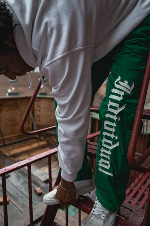 Image of INDI Nylon Sweatpants / Green