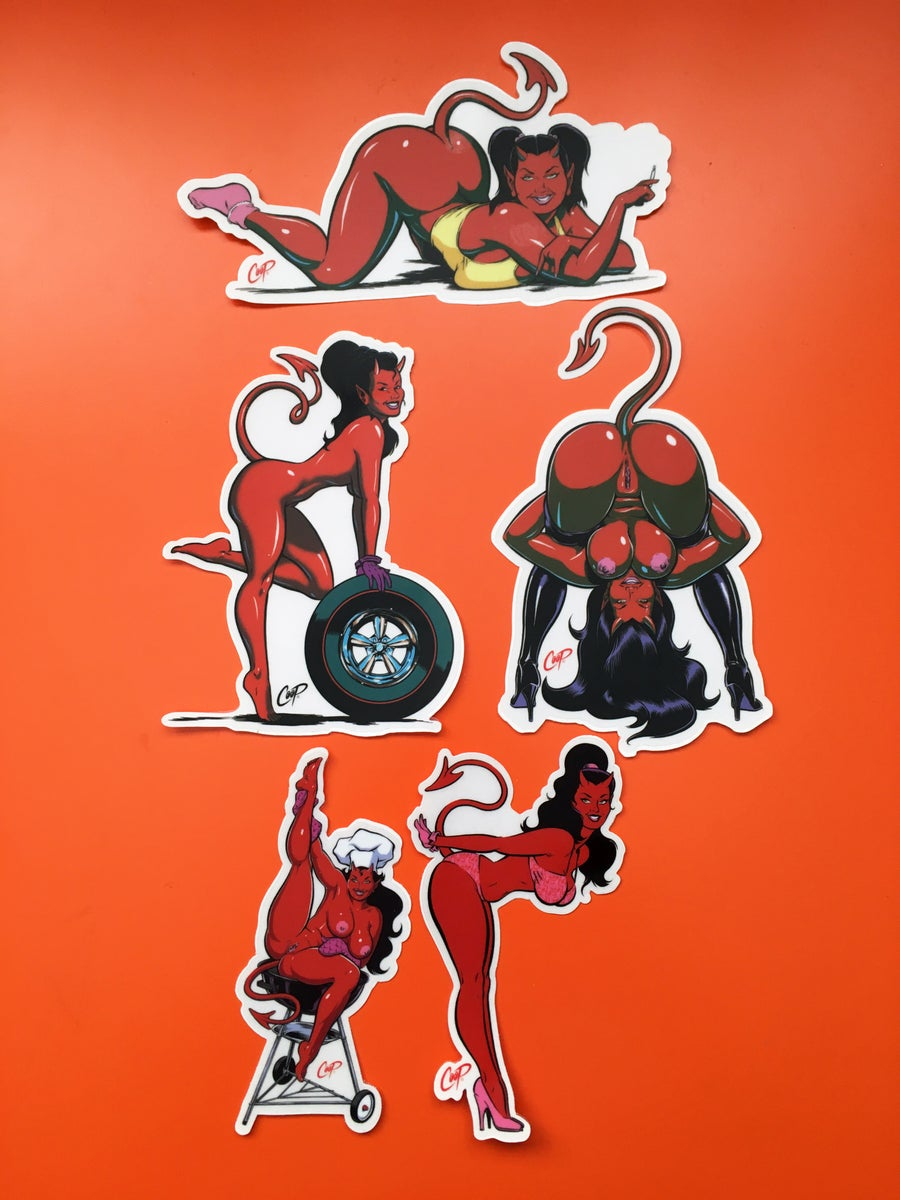 "Image of COOP Sticker Pack #2 ""Devil Girls"""