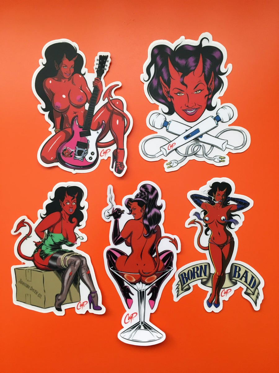 "Image of COOP Sticker Pack #3 ""More Devil Girls"""