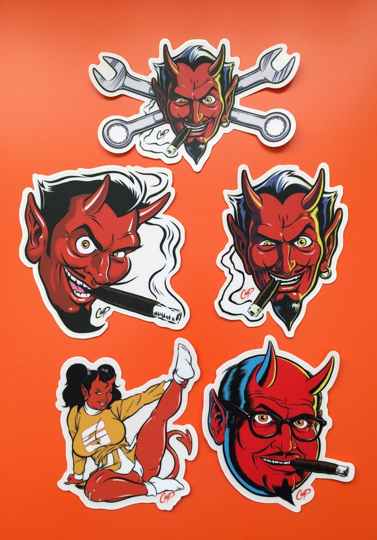 """Image of COOP Sticker Pack #1 """"Devils & Devil Girl"""""""